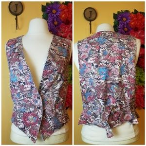 VTG Michael Tracey floral tapestry vest- medium